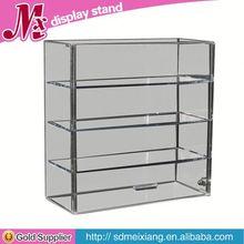 wall mounted acrylic display MX1607 hot sale clear acrylic cosmetic display shelf