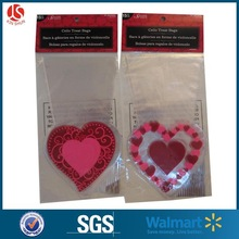 20ct gravure printing plastic shaped treat cello bag for valentine's day