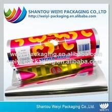 scrap printed plastic film rolls/snack packaging film/automatic packaging abs plastic roll for snack
