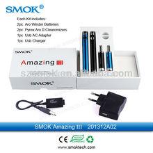 smart design ecig Amazing III ego 900mah usb charger/adapter starter kit