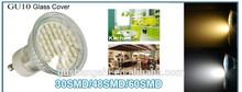 3.5W CE/RoHs GU10 led spotlight lamp AC110V-240V quartz glass for commercial place