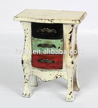 White Wooden Mini Cabinet Table Decoration