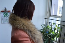 Fashion Women Big Raccoon Winter Dyed Raccoon Fur Strip