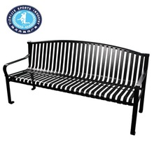 Anti-Scratch Street Rest High Strength Decorative Black mesh metal benches for park
