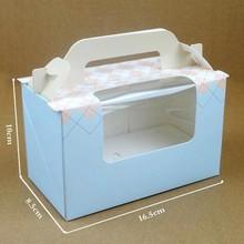 Cheap color wedding cup portable creative craft cake box