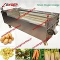 Escova do rolo de batata/cenoura/gengibre/kiwi frutas lavar e descascar machine brush amendoim tipo máquina de lavar roupa