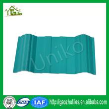 eccellente resistente al fuoco di plastica riciclata ondulata di copertura in pvc
