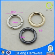 gold spring ring clasps for bags fancy round metal rings