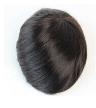"mens toupee 7""x9""hair toppers Indian remy hair men's hair systems pieces mono base"