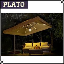 Giant Roma LED umbrella,umbrella lights solar for garden,coffee shop