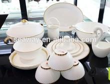46 pcs India dinnerware stock fine bone china