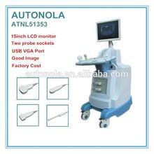 ATNL51353 15inch LCD montior trolley medical ultrasound machine & echo ultrasound