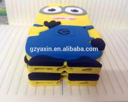minions silicone case for iphone 6,Yellow Minion 3D Silicone Case for iPhone 6 Cartoon Minion Case