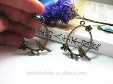 Wholesale Bird Necklace Bird in Flower Window Pendnt Charms Bird Cage Necklace