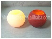 Marbel finish led candle with Ball shape