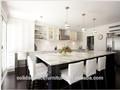 moderne marbre artificiel de haute brillant modèles de cuisine modulaire