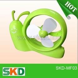 snail shape design usb mini fan