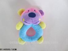 2015 custom stuffed animal soft infant rattles baby toys