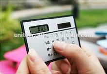 Hot sale 8 digits fancy calculator solar power/card pocket calculator