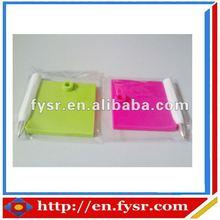 2015 new products color erasable/rewritable silicone memo pad