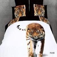 tiger comforter set China manufacturer cheap bedspreads wholesale bedding set 3d xg28010k