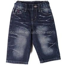 EMB-2254S-A1 blue gray denim fashion metal button bb jeans