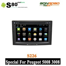 Touch screen car dvd for peugeot 3008 GPS SWC Radio BT Android 4.2.2 MP3 Player