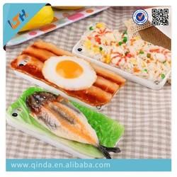 Newest product simulation japanese sushi silicone case for iphone 5/5s