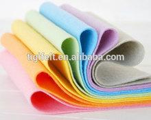 Colorful felt sheet for handicraft
