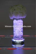 Christmas Halloween Holiday 6inch Round Sliver Uplighter Crystal Led Light Base