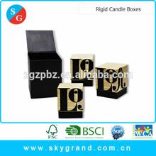 Wholesale handmade square rigid paper candle box