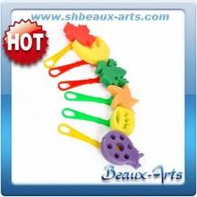 Diffrent shapes colorful sponge kid's paint foam tool- Set of 6