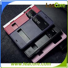 Elegant Design Window View Flip PU Leather Case For Sony Xperia Z3