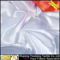 Wholesale shiny cheap white satin fabric