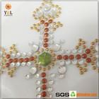 Charming Cross Design Hotfix Rhinestone Appliques for Sash on Sale