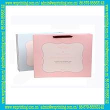 alibaba china custom hot sale gift pink striped paper bag