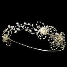 wedding tiara noiva The princess crown wedding bridal hair acessorios para cabelo Pur wedding hair jewelry tiaras and crowns