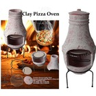 Classic wood burning mini clay bbq chimney