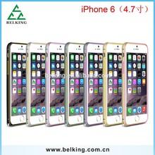 For iPhone 6 4.7'' aluminum dual color bumper, for iPhone 6 love mei bumper case love mei