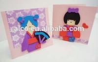 Japan Kokeshi EVA Foam DIY greeting card