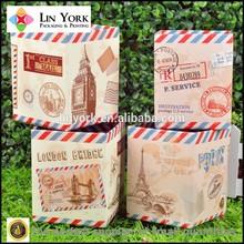 2015 new luxury paper square shape pen storage boxes