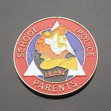 Metal souvenir coin with colored lion