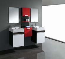 modern house Classic Style and Stainless Steel Carcase Material Bathroom cabinet brown solid wood bathroom furniture