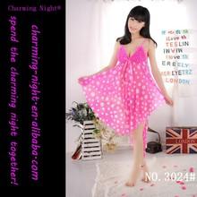 factory supplies chiffon dot sexy lingerie sex dress 3024#