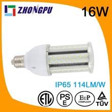 16W E27 IP64 high luminous led corn lamp replace mercury lamp