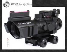 Vector Optics Goliath 4x32 Tactical Compact Riflescope Fiber Optics Sight Tri-Illumination Chevron Reticle for AR-15 .223 REM