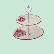 handmade mini weeding heart shape cup cake stand