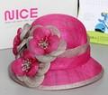 feitas à mão organza sinamay chapéus de casamento vestido de noiva moda chapéus