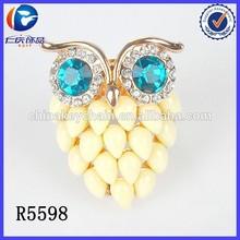 Latest Style Unique Design Fancy Owl Shape Rose Gold Rings