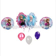 Latex cartoon frozen kids birthday party balloon decorations
